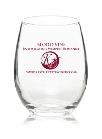 Blood Vine wine glass