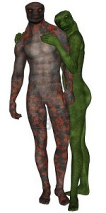 lizard man and woman lovers
