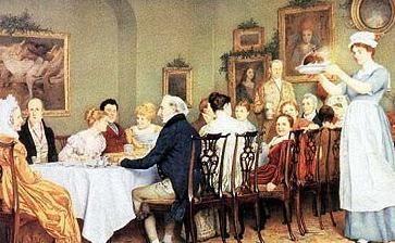 Regency Christmas dinner