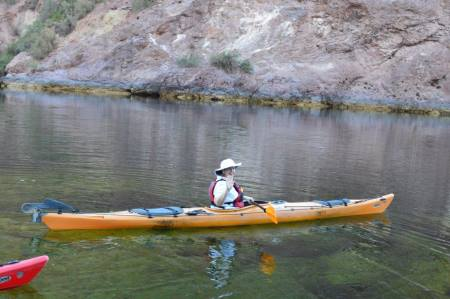 Babette James and the Kayak