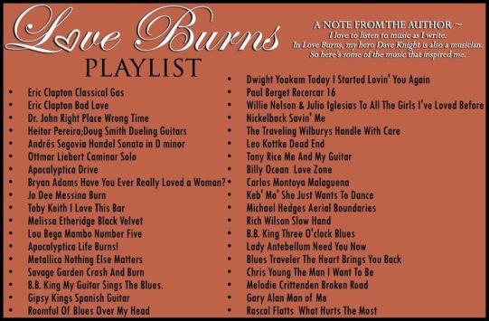 Love Burns Playlist