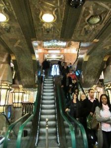 Escalator at Harrod's-Egyptian wing, photo by Carly Carson